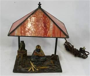 AUSTRIAN BRONZE FIGURAL LAMP