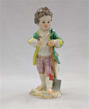 MEISSEN PORCELAIN FIGURINE OF A BOY