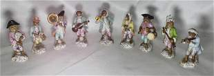 Set of Nine German Monkey Band