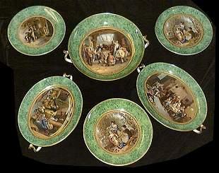 English Circa 1870 F&R Pratt Co. Porcelain Handled