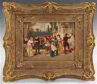 19 Century German Hand Painted KPM Porcelain Plaque