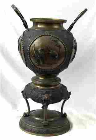 19th Century Japanese Bronze Vase