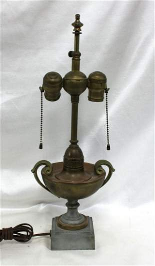 Iron and Brass American Lamp.