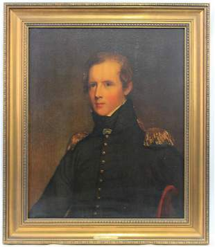 Old American Portrait chromolithographic print of Maj.