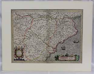 Arragonia et Catalonia Map Amsterdam/ 1605
