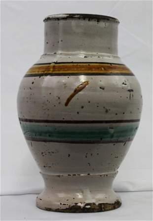 Italian Maiolica Toscano Ceramic Vase (Drug Jug)