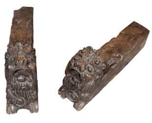 Pair 16th Century Pair of Italian Renaissance Walnut