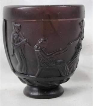 A Georges de Feure Molded Glass Vase.