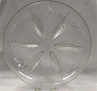 Crystal Verlys Papyrus Dish.