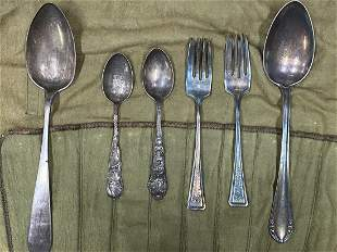 6 Pieces of Spoons and Forks (Silver)