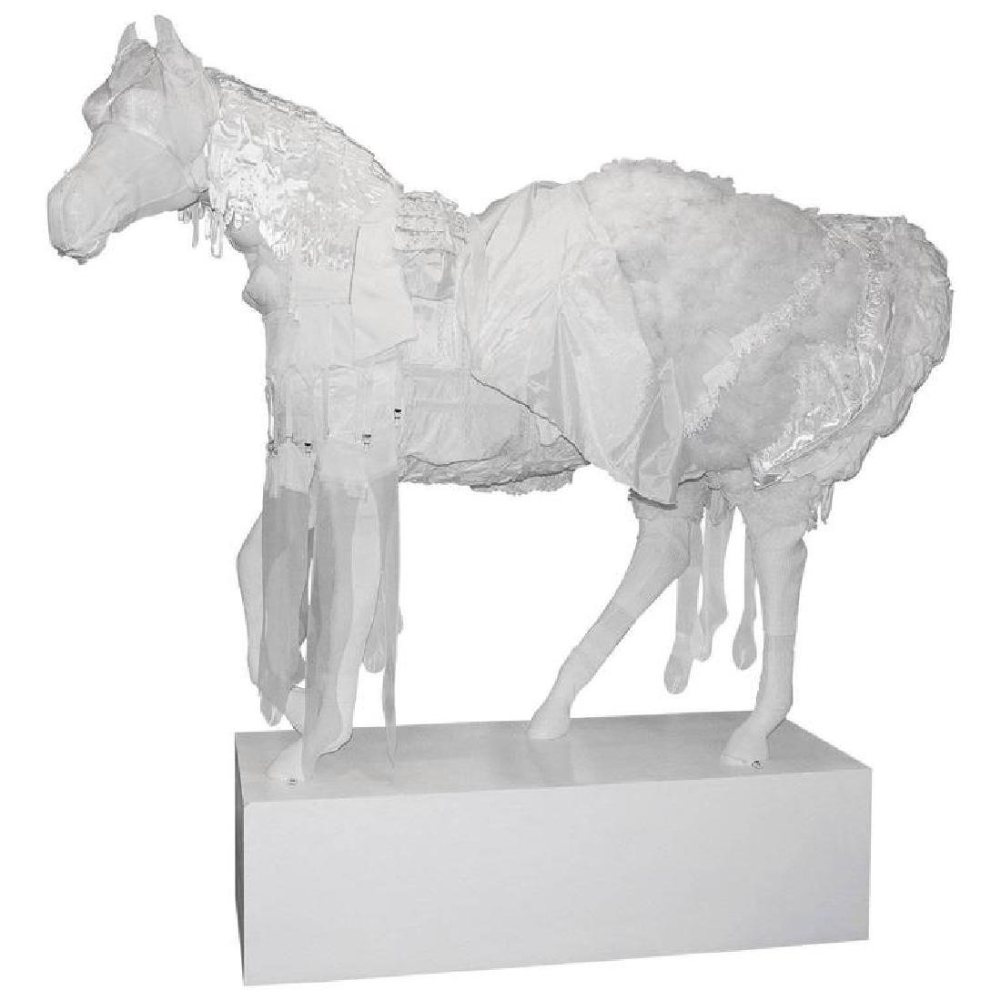 Life Sized Fiber Glass Art Horse