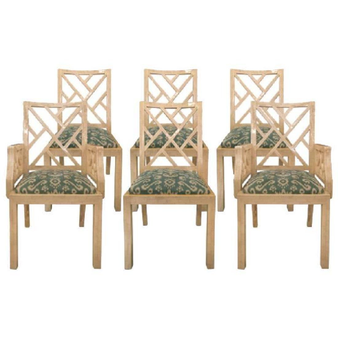 Set of Six Camel Bone Dinning Chairs