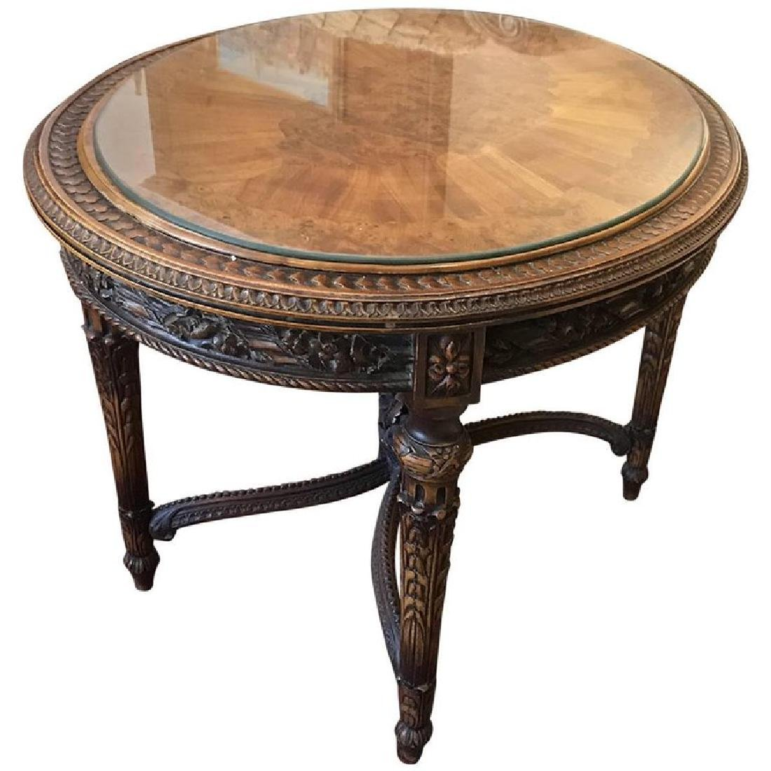 SCHOLLE FURNITURE CO. Neoclassical Style Carved and
