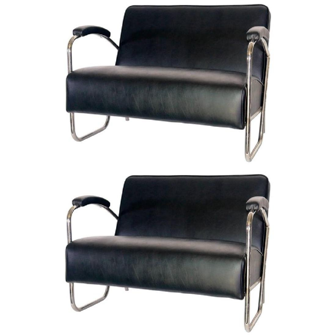 Pair of Mid-Century Modern Thonet Style Sattees Sofas