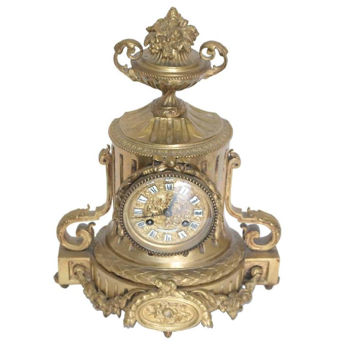Tiffany & Co. 19th Century Bronze Mantel Clock