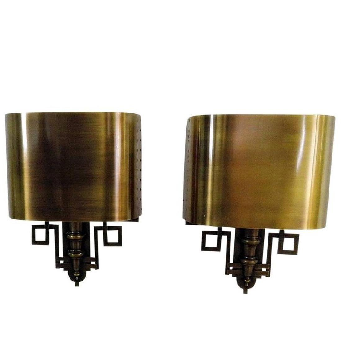 Pair of French Mid-Century Modern Wall Sconces