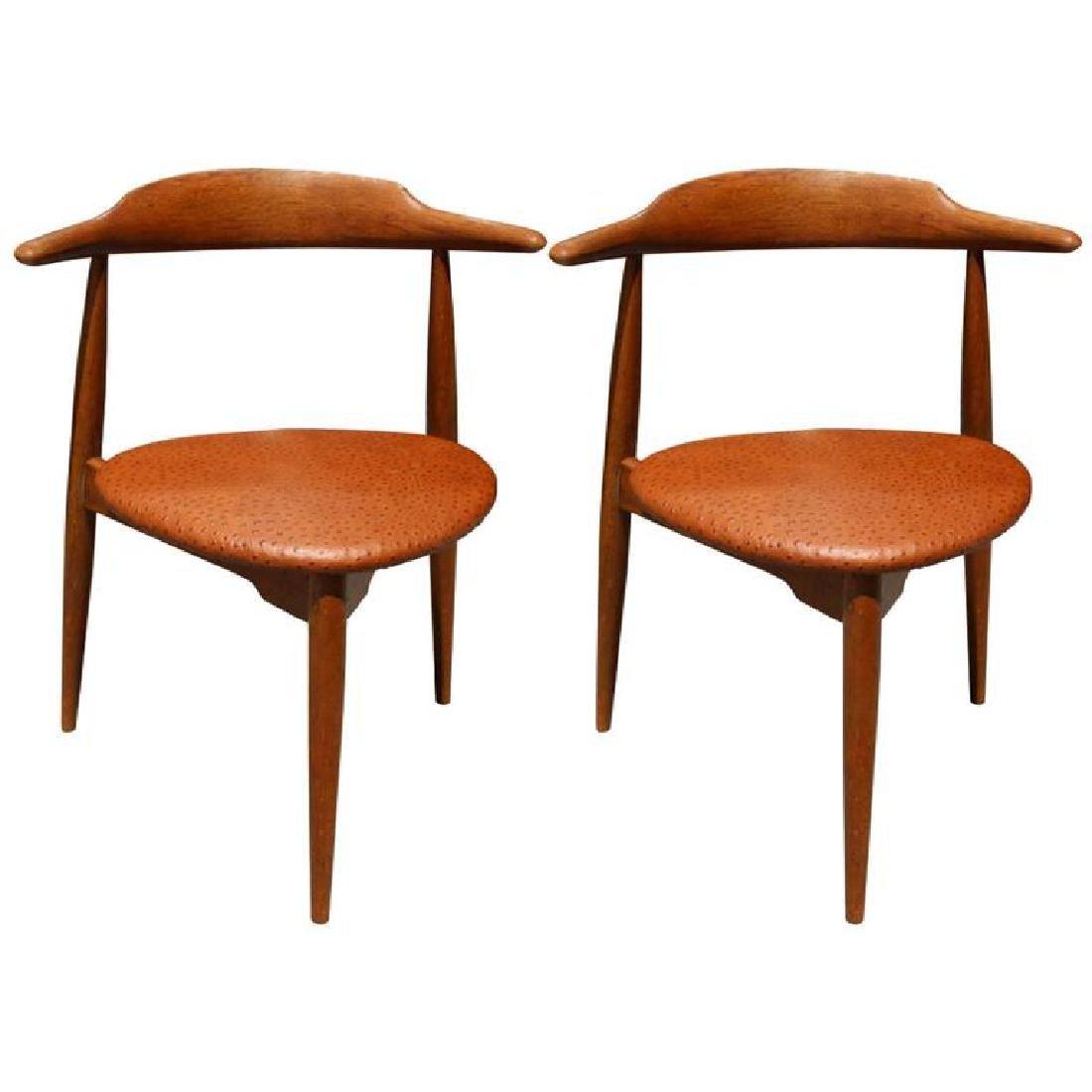 Hans Wegner Danish Mid-Century Heart Chairs