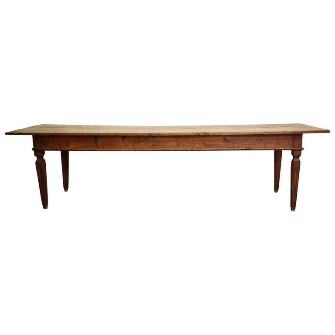 17th-18th Century Italian Long Rustic Dining Table with