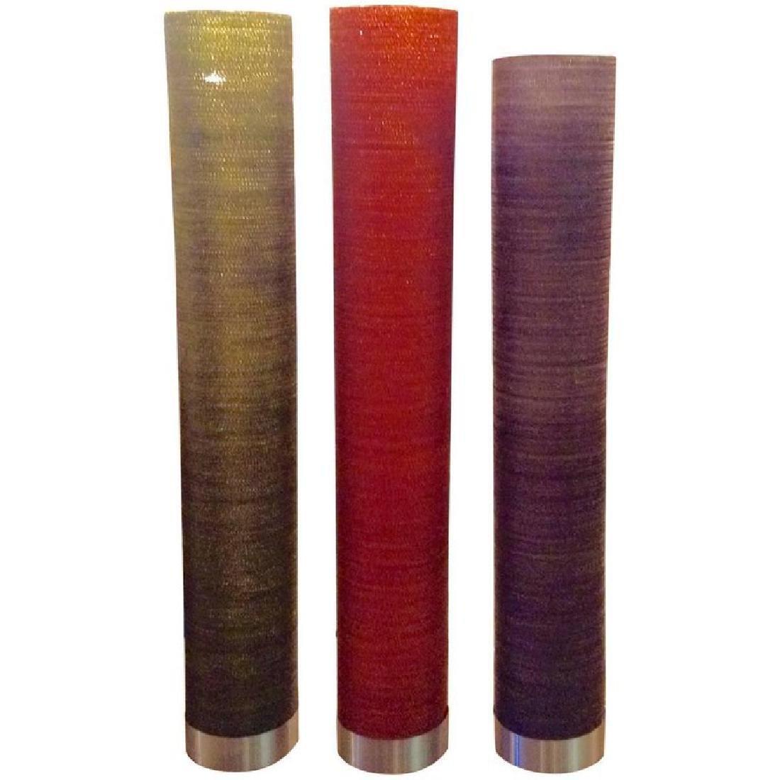 Italian Five-Light Cylindrical Floor Lamps