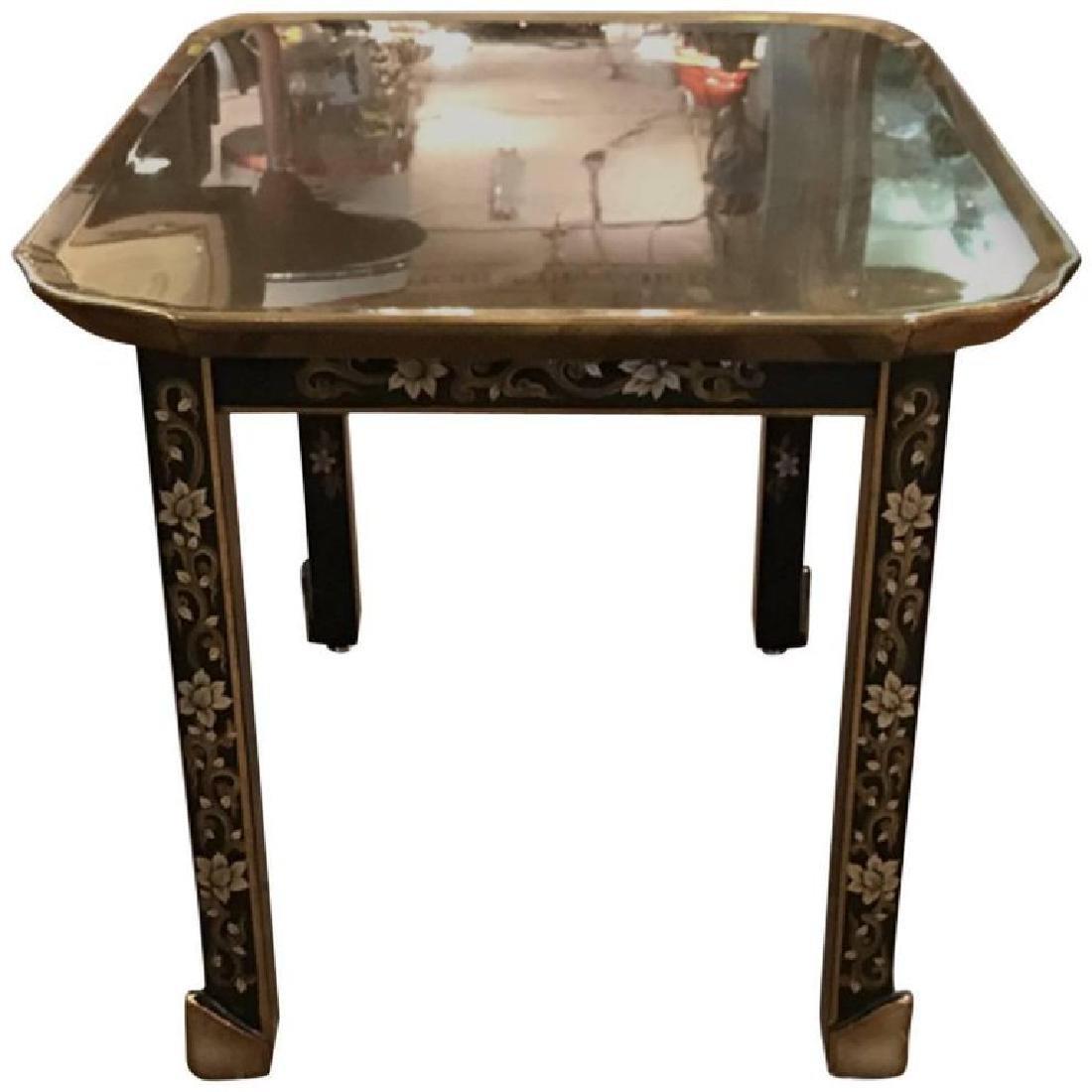 Baker 1950s Brass Top Foliate Side Table