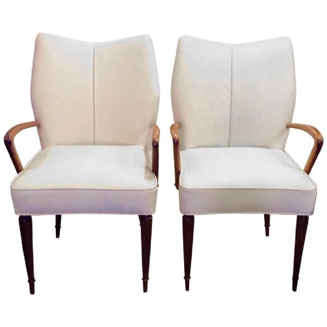 Midcentury Italian Leather Armchairs
