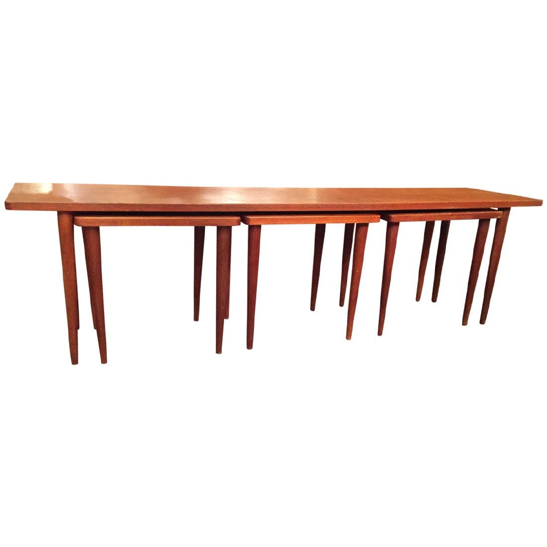 Swedish Long And Narrow Nesting Coffee TableSwedish Lon