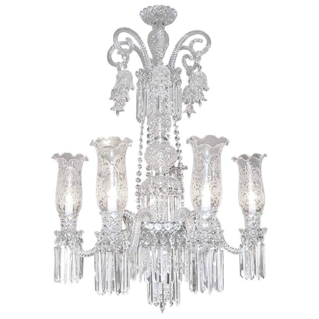 Baccarat style Bohemian Crystal Two-Tier Chandelier