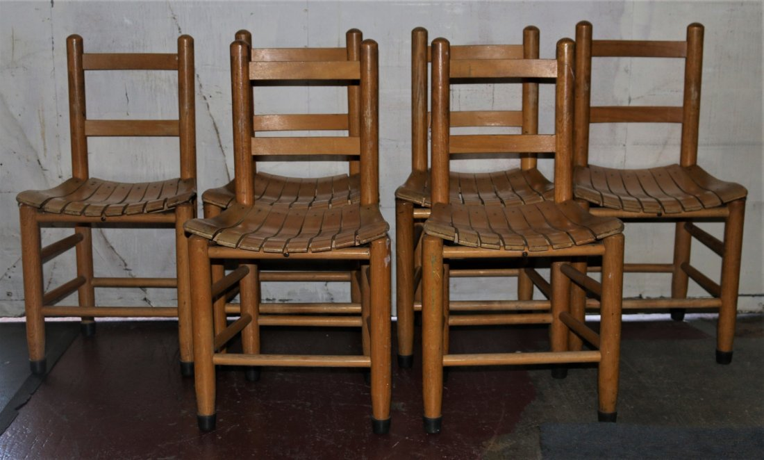 Set of Six Ladder Back Children's Chairs Late-20th - 2
