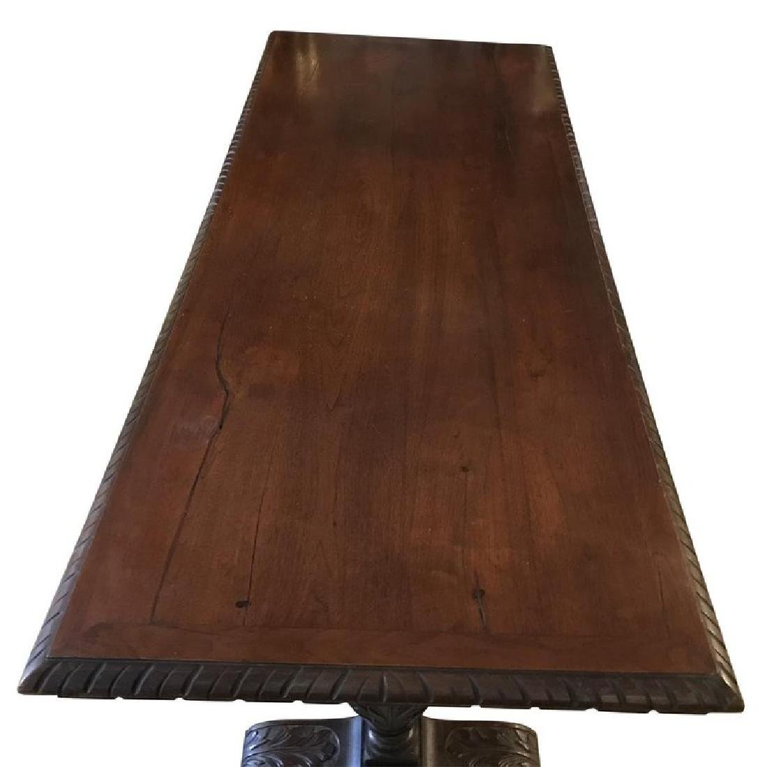 Renaissance Style Carved Walnut Refectory Table - 2