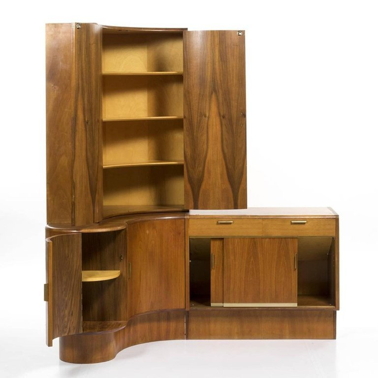 Mid-Century Modern Danish Teak Desk Corner Storage Unit - 2