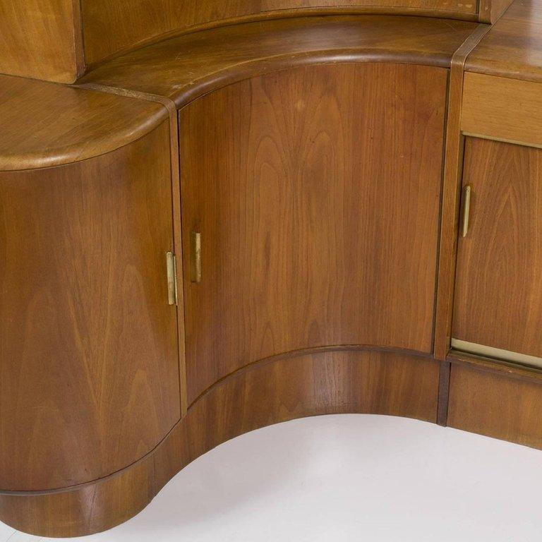 Mid-Century Modern Danish Teak Desk Corner Storage Unit - 3