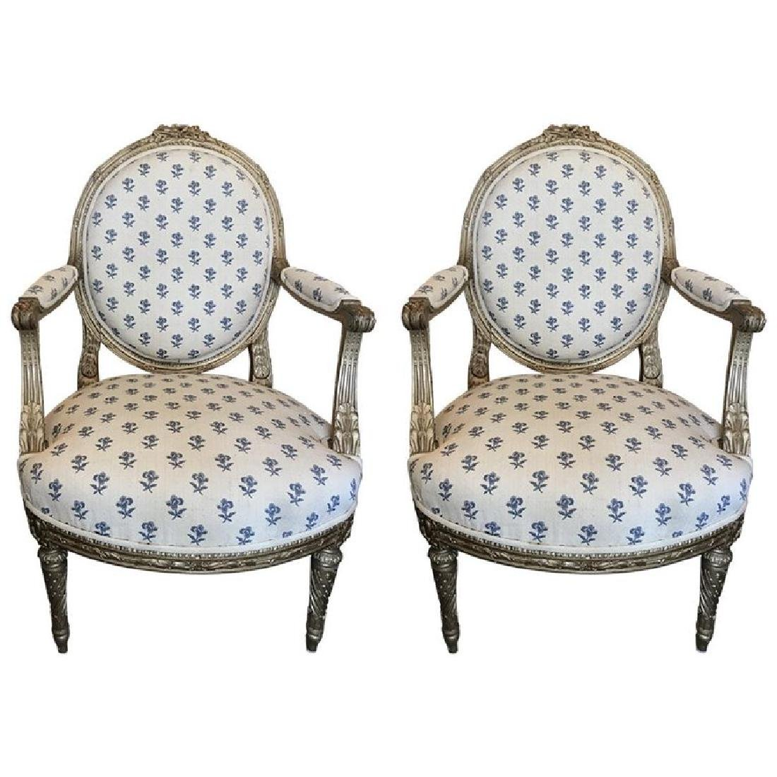 Pair of 19th Century French Louis XVI Style Giltwood