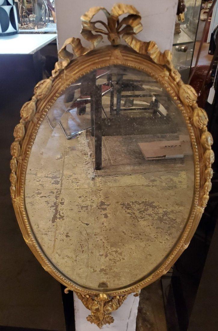 Antique French Gilt Bronze Mirror