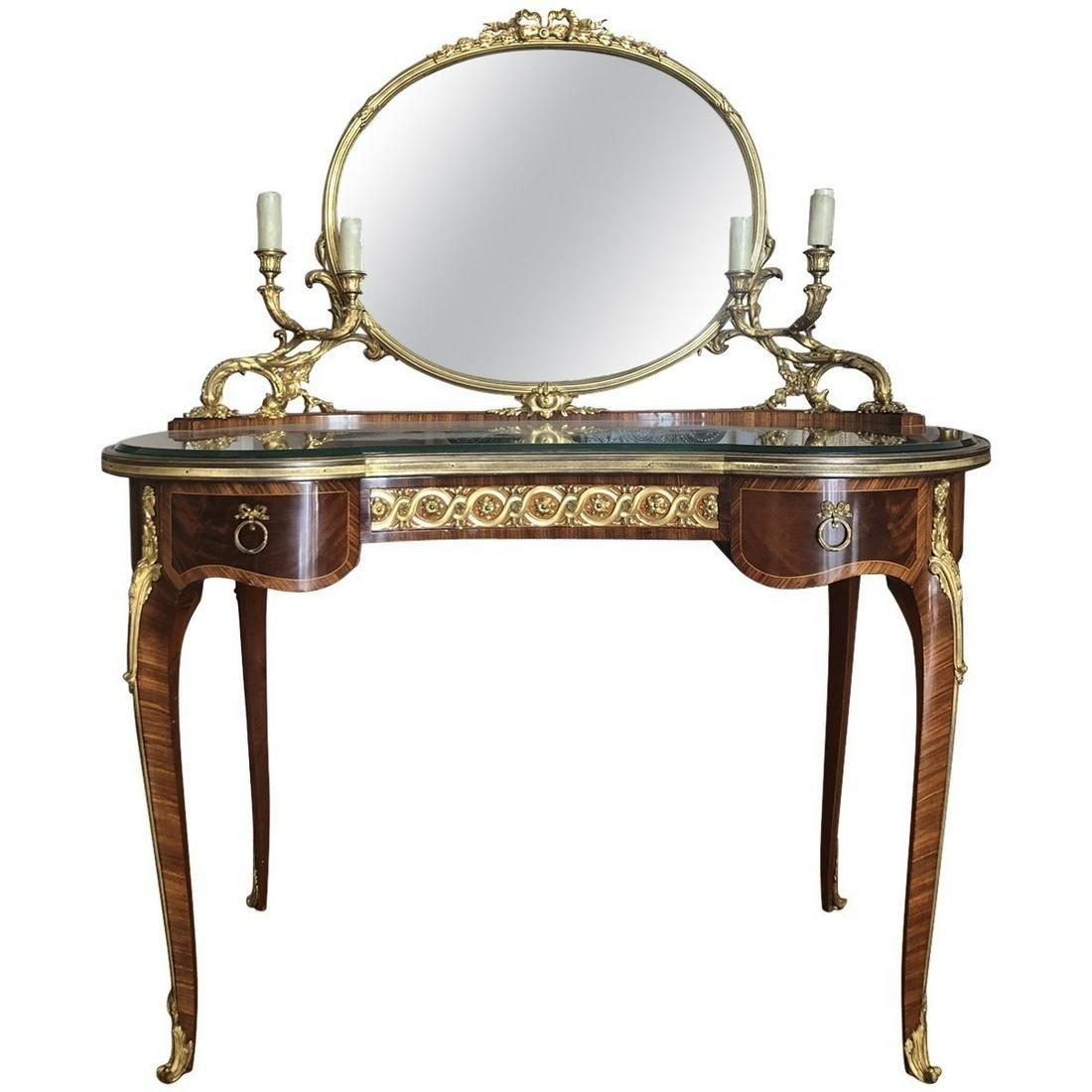 Linke Mounted Table De Toilette Late-19th