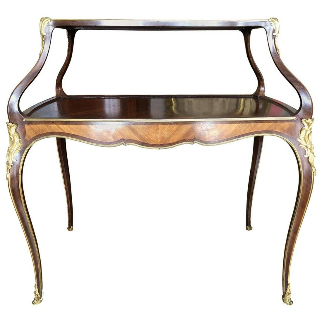 Louis XV Style Mounted Two-Tier Table à Dessert