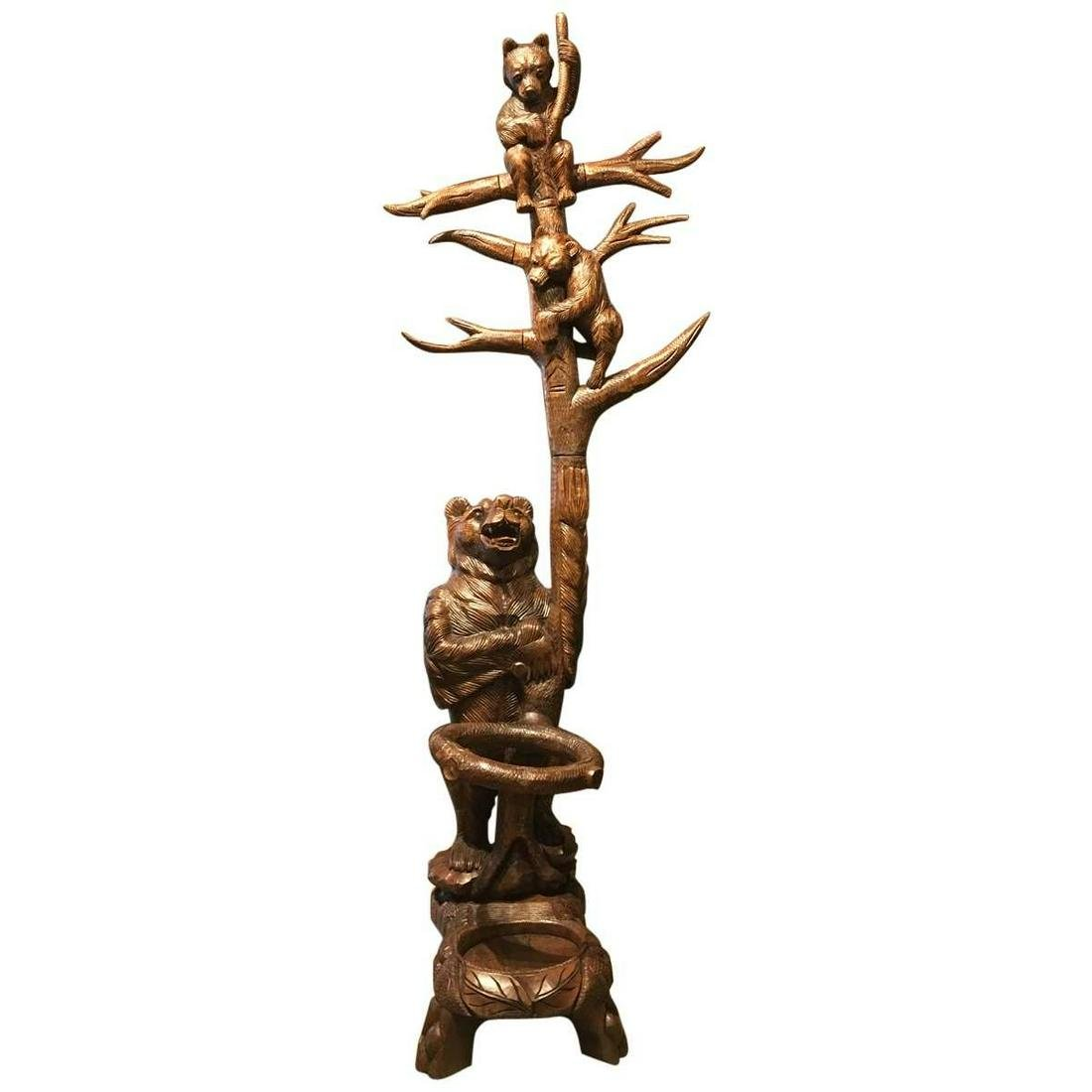 European Black Forest Bear Coat Stand