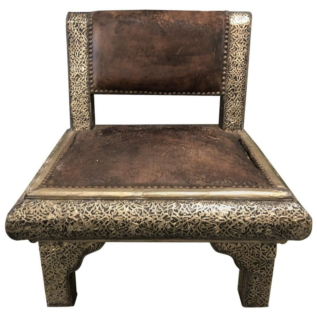 Moroccan Lounge Chair Early-20th Century