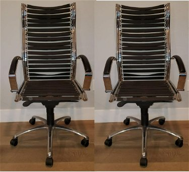 Chrome Framed Office Chairs With Bungee