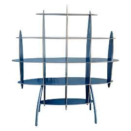 Italian Contemporary Modern Blue Standing Rack/Shelf