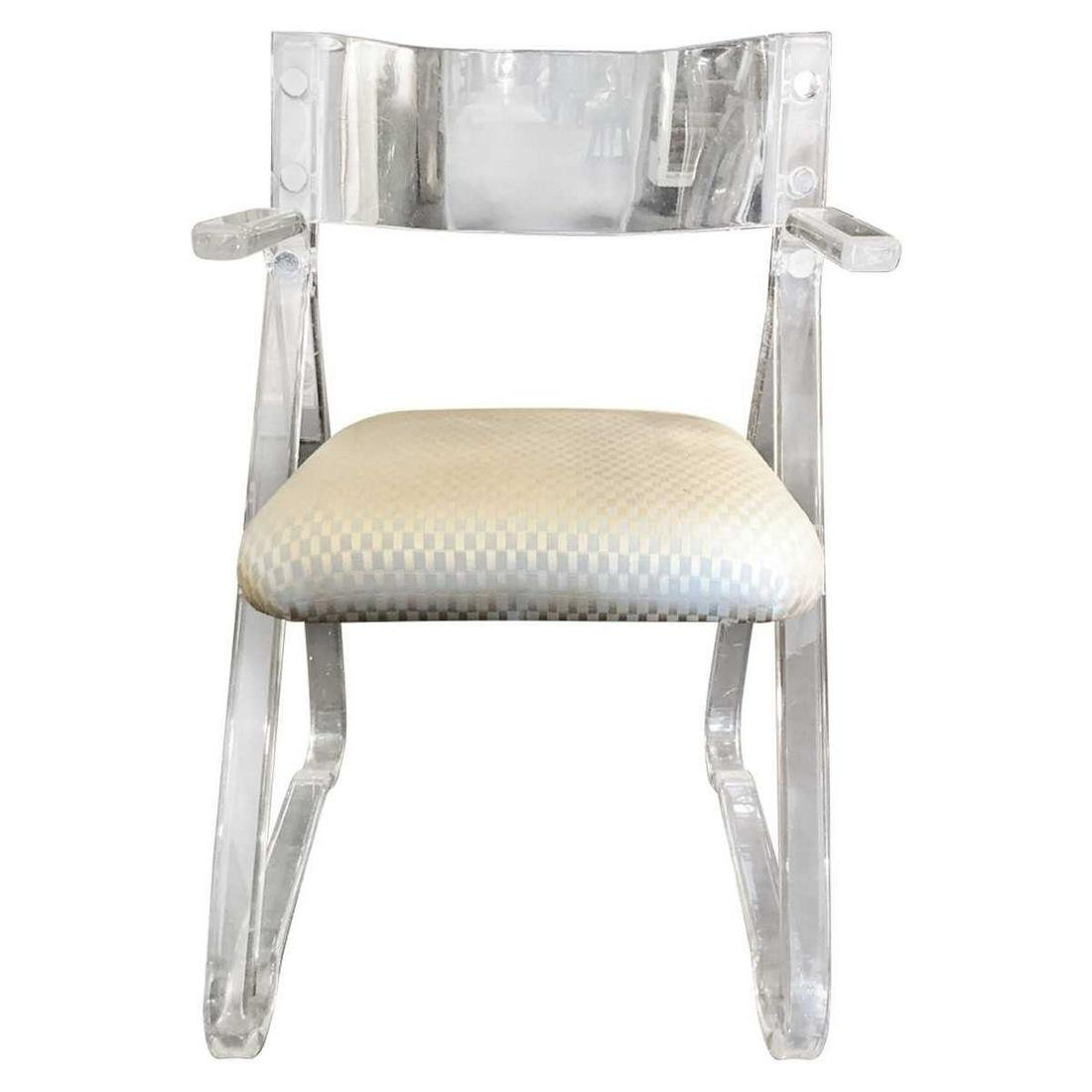 Italian Modern Mid Centruy Lucite Armchair with