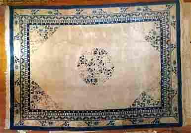 1980s 100% Wool Pile Art Deco Rug