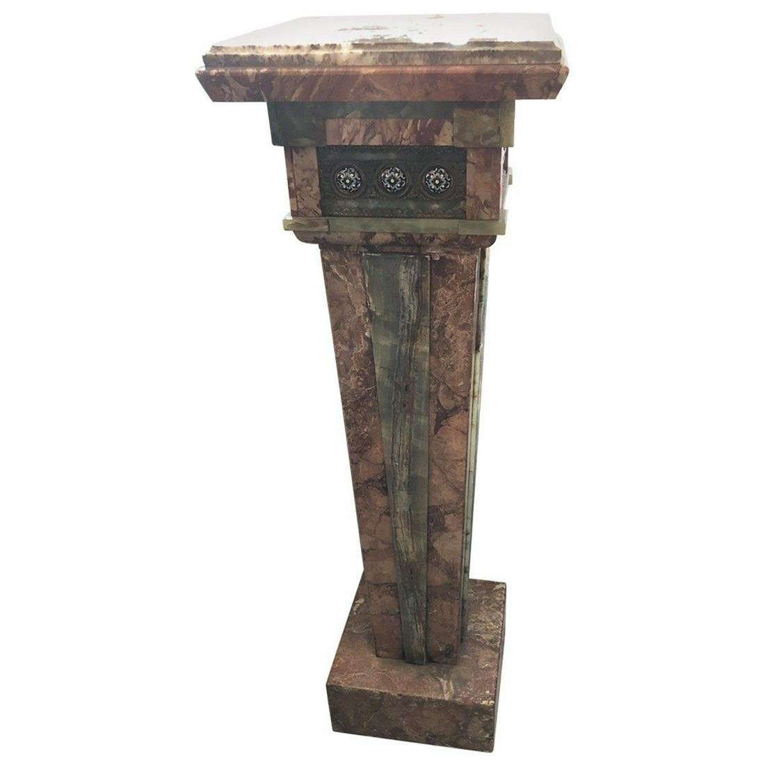 Aesthetic Movement Champlevé Enamel Inset Pedestal