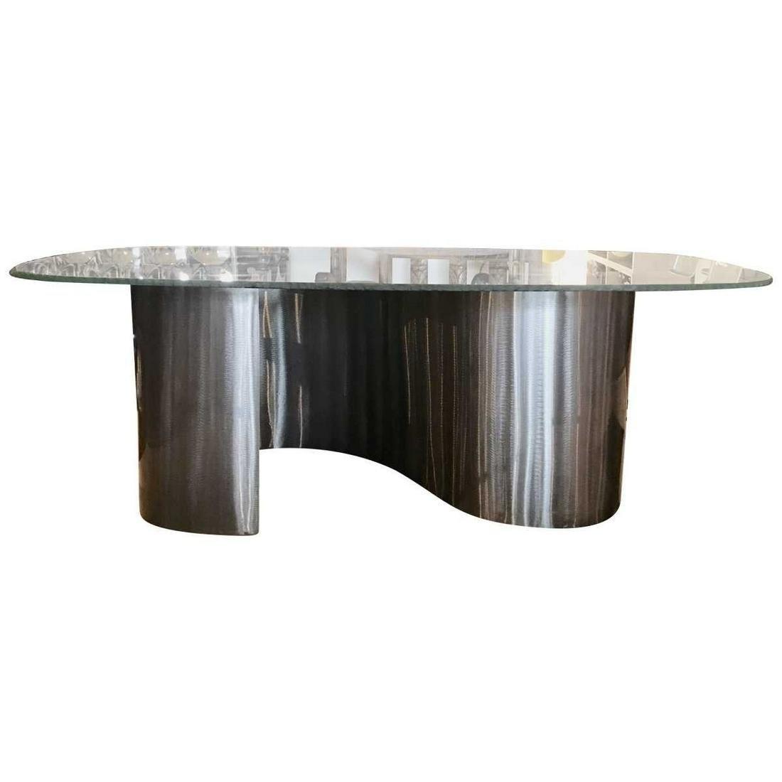 70s Modern Spiral-Base Coffee Table