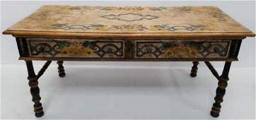 Antique Country French Hand Painted Desk