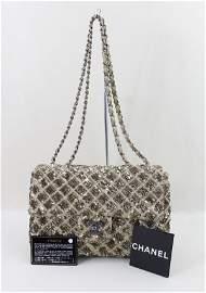 Chanel Classic Medium Sequins Leather Bag Rare
