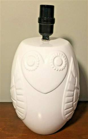 Johnathan Alder Owl Pottery Table Lamp