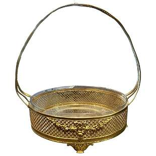 Rococo Style Handled Basket