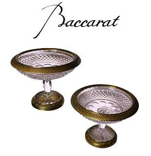 Pair of 19th c. Ormolu Mounted Baccarat centerpiece.