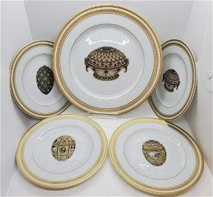 Group of 5 Faberge Limoge Plates