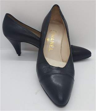 Chanel Black High Heel Size 36 1/2 shoes